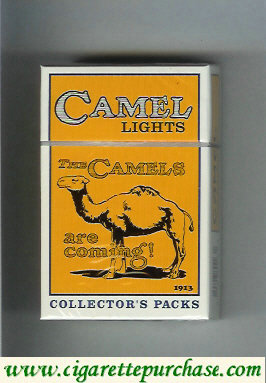 Discount Camel Collectors Packs 1913 Lights cigarettes hard box