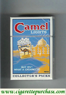 Discount Camel Collectors Packs 1915 Lights cigarettes hard box