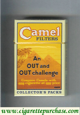 Discount Camel Collectors Packs 1918 Filters cigarettes hard box