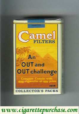 Discount Camel Collectors Packs 1918 Filters cigarettes soft box