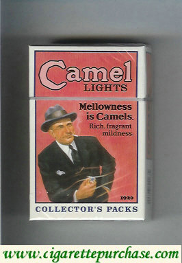 Discount Camel Collectors Packs 1920 Ligts cigarettes hard box
