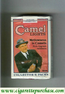 Discount Camel Collectors Packs 1920 Ligts cigarettes soft box