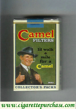 Discount Camel Collectors Packs 1921 Filters cigarettes soft box