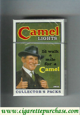 Discount Camel Collectors Packs 1921 Lights cigarettes hard box