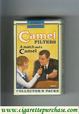 Discount Camel Collectors Packs 1927 Filters A match and a Camel cigarettes soft box