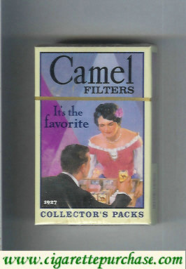 Discount Camel Collectors Packs 1927 Filters cigarettes hard box