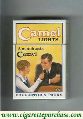 Discount Camel Collectors Packs 1927 Lights cigarettes hard box