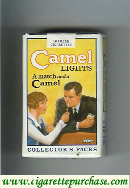 Discount Camel Collectors Packs 1927 Lights cigarettes soft box