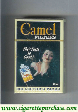 Discount Camel Collectors Packs 1934 Filters cigarettes hard box