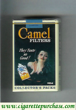 Discount Camel Collectors Packs 1934 Filters cigarettes soft box