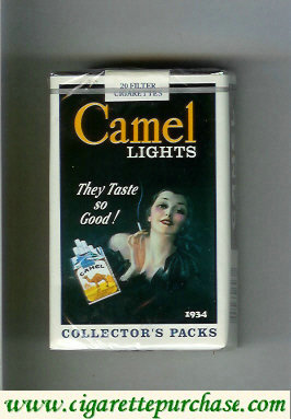 Discount Camel Collectors Packs 1934 Lights cigarettes soft box