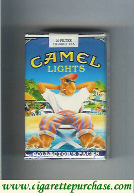 Discount Camel Collectors Packs 5 Lights cigarettes soft box