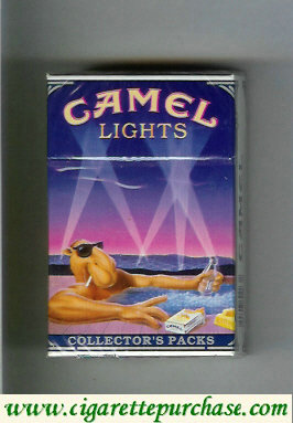 Discount Camel Collectors Packs 6 Lights cigarettes hard box