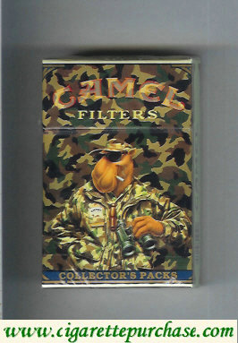 Discount Camel Collectors Packs 8 Filters cigarettes hard box