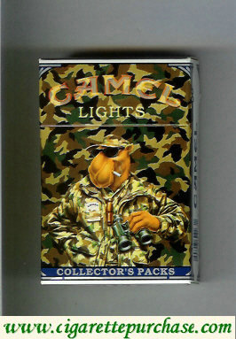 Discount Camel Collectors Packs 8 Lights cigarettes hard box