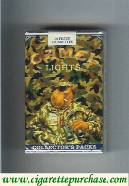 Discount Camel Collectors Packs 8 Lights cigarettes soft box