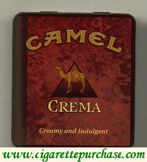 Discount Camel Exotic Blends Crema cigarettes metal box