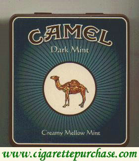 Discount Camel Exotic Blends Dark Mint cigarette metal box