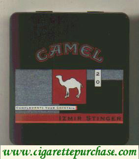 Discount Camel Exotic Blends Izmir Stinger cigarettes metal box
