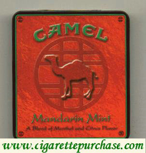 Discount Camel Exotic Blends Mandarin Mint cigarettes metal box