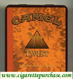 Discount Camel Exotic Blends Twist cigarettes metal box