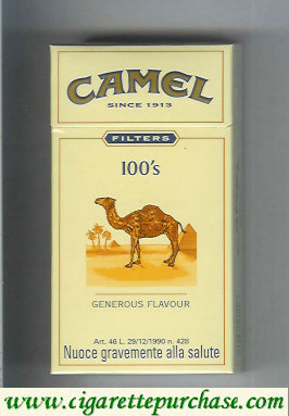 Discount Camel Filter Generous Flavour 100s cigarettes hard box
