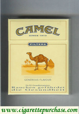 Discount Camel Filter Generous Flavour cigarettes hard box