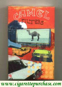 Discount Camel Filters Art Issue designed by Tim Marrs cigarettes hard box