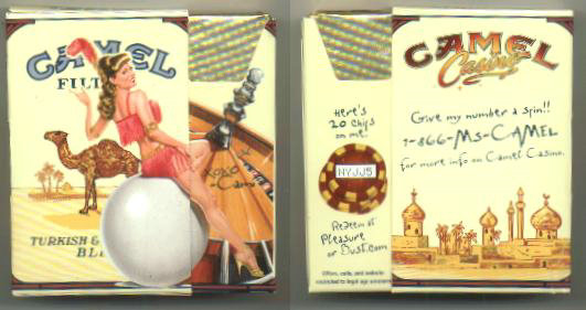 Camel Filters Casino Showgirl Issue Cami side slide cigarettes hard box