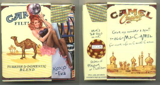 Discount Camel Filters Casino Showgirl Issue Eva side slide cigarettes hard box