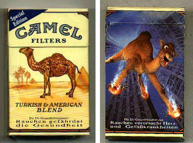 Discount Camel Filters Special Edition  Fallendes Camel cigarettes hard box
