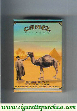 Discount Camel Genuine Century 1913 Filters cigarettes hard box