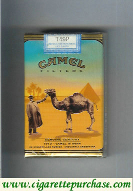 Discount Camel Genuine Century 1913 Filters cigarettes soft box