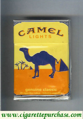 Discount Camel Genuine Classic Lights cigarettes hard box