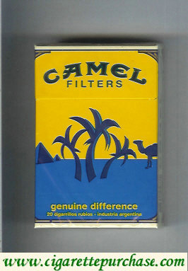 Discount Camel Genuine Difference Filters cigarettes hard box