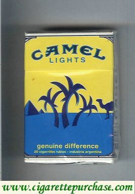 Discount Camel Genuine Difference Lights cigarettes hard box