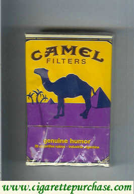 Discount Camel Genuine Humor Filters cigarettes hard box