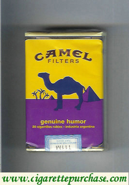 Discount Camel Genuine Humor Filters cigarettes soft box