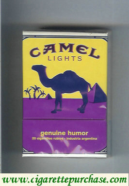 Discount Camel Genuine Humor Lights cigarettes hard box