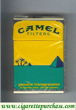 Discount Camel Genuine Transgression Filters cigarettes hard box