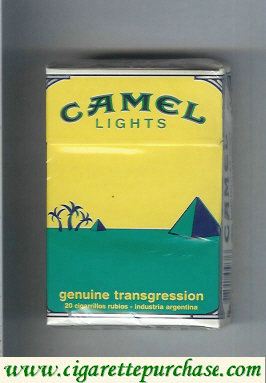 Discount Camel Genuine Transgression Lights cigarettes hard box