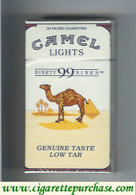 Discount Camel Lights 99s cigarettes hard box