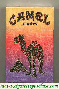 Discount Camel Lights Art Issue designed by Gregg Gordon of Gigart cigarettes hard box