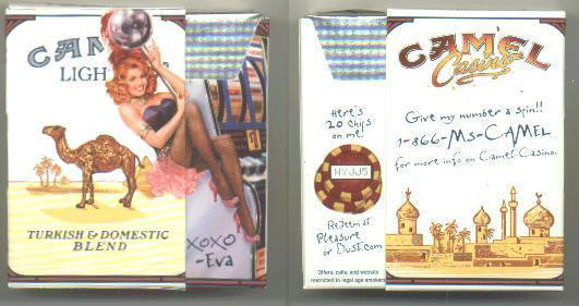 Discount Camel Lights Casino Showgirl Issue Eva side slide cigarettes hard box