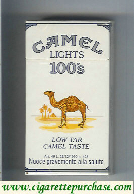 Camel Lights Low Tar Camel Taste 100s cigarettes hard box