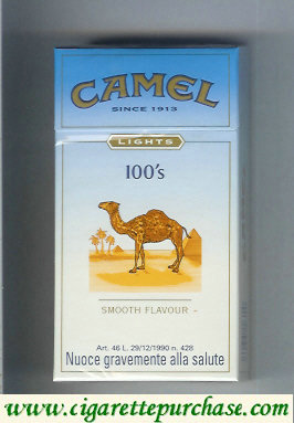 Discount Camel Lights Smooth Flavour 100s cigarettes hard box