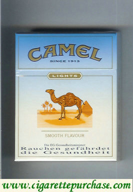 Discount Camel Lights Smooth Flavour cigarettes hard box