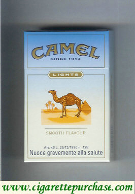 Camel Lights Smooth Flavour cigarettes king size hard box