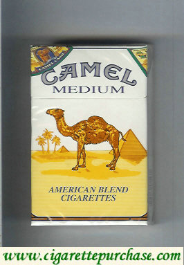 Discount Camel Medium American Blend cigarettes hard box
