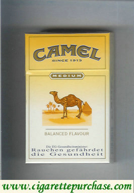 Discount Camel Medium Balanced Flavour cigarettes hard box